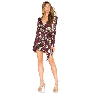NWT Tularosa Scout Mini Wrap Dress Maroon Floral